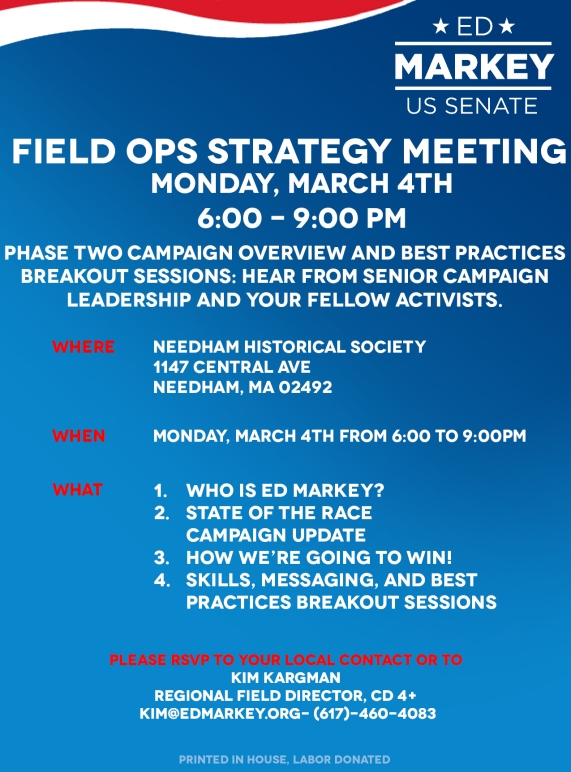 Needham Field Ops Meeting Flyer- March 4th
