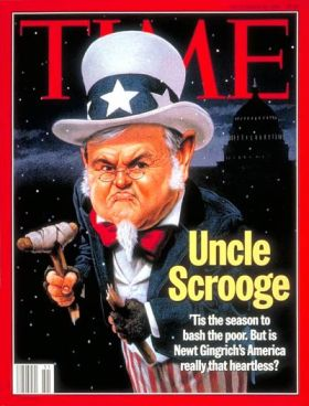Newt Gingrich Scrooge