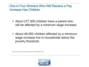 Children and Minimum Wage workers (click to enlarge)